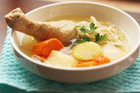 chicken soup helps with many health issues